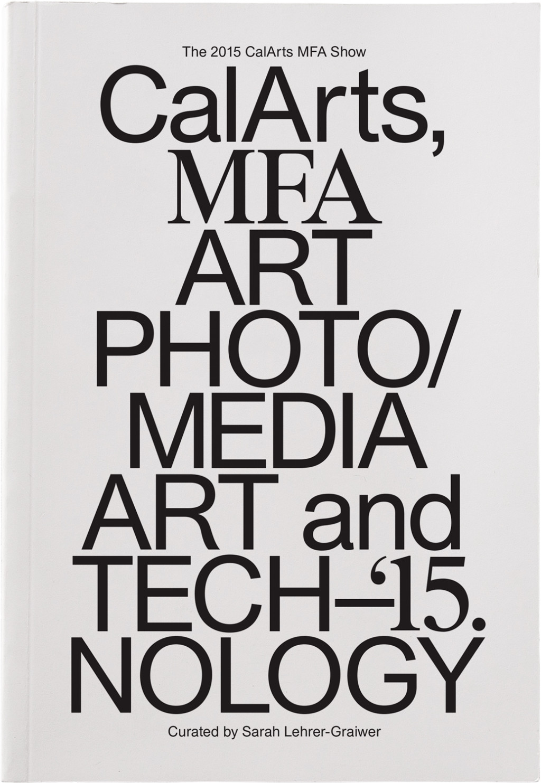 Tom Kracauer CalArts MFA catalog